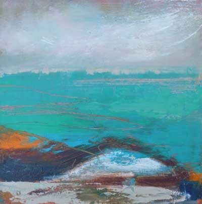 'A Turquoise Sea' by Lesley Birch