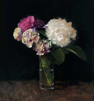 'Carnations' oil painting by Ben Eden