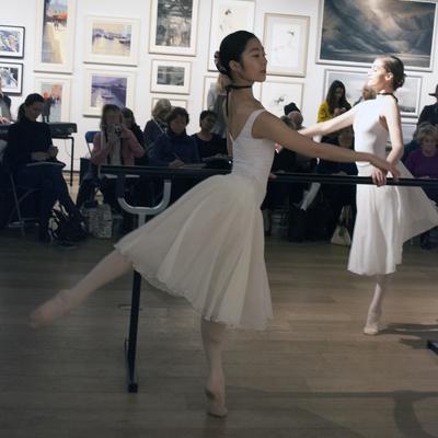 Coffee Morning sketching ballet dancers