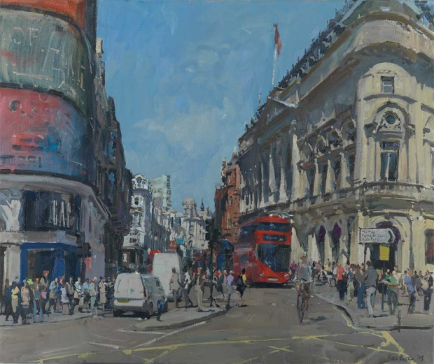 Peter Brown, The-Bottom-of-Shaftesbury-Ave-from-Piccadilly
