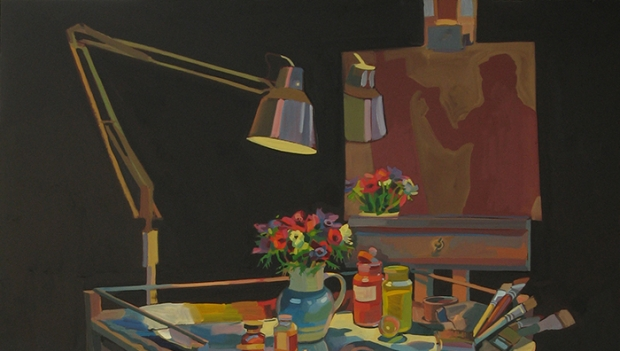 Lachlan Goudie, Against Falling Light. Mall Galleries Royal Institute of Oil Painters