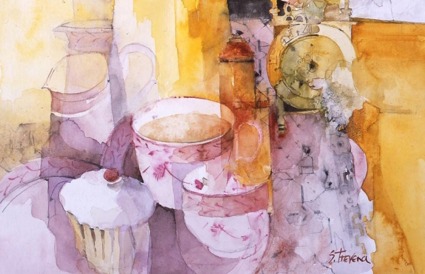 Shirley Trevena Teacup Mall Galleries Tea Party