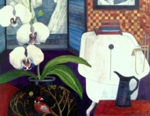 White Orchid by Delia Cardnell Commission art blog post