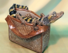 Crocodile Bag by Jill Moger SWLA