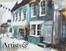 Camilla Dowse, Quay Hill, Lymington (detail). Winner of the Artists of the Year 2014