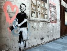 Banksy, Heart Boy (detail)