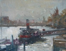 Bill Dean ROI, Tattershall Castle on the Thames (detail)