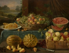 Ivan-Khrutsky-Still-Life-with-Fruit-and-Honeycomb