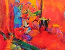 Peter Graham ROI, Red Still Life (detail)