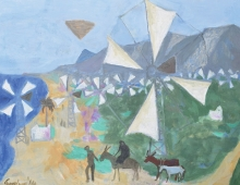 Manning Fine Art - Trevelyan, Cretan Windmills @Connect