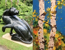 Sculpture by Sylvester Mubayi, Painting by Charles Baughman