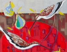 Annabel Fairfax, Curlews  Red Table (detail)