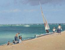 John Stillman, On the Beach, Cowes, IOW RSMA Annual Exhibition