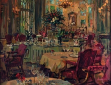 Dining with Roses by Susan Ryder Royal Automobile club commission
