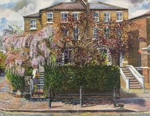 Melissa Scott-Miller, View of Islington House with Wysteria