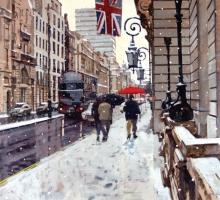 The RAC Snow Effect by Ken Howard OBE RA