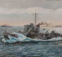 'HMS Blecanthra' by Paul Wright RSMA