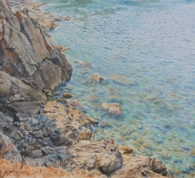 Faulkner-Neil-Swimming-off-the-Rocks,-Majorca