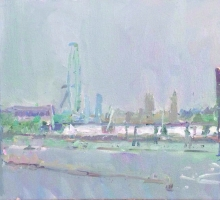 Paul Gildea NEAC, Waterloo Bridge