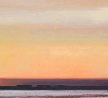 Robin Hazelwood Camber Sands Sunset Browns and Oranges