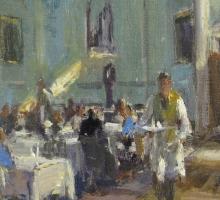 Roger Dellar, The Pump Room, Bath (detail)