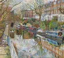 Melissa Scott-Miller, Regents Canal Early Spring Sunshine