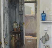 Interior with Ceramics by Charles Hardaker RBA Still Life Ceramics Collection Commission