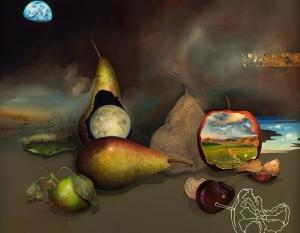 Dani Humberstone, Apple Muse: Golden Fleece (detail)