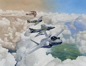 Graham Henderson GAvA, RAF Formation 1918 -2018 – RAF 100 years, a celebration (detail)