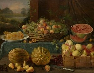 Ivan-Khrutsky-Still-Life-with-Fruit-and-Honeycomb