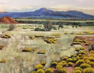 Lydia Bauman, New Mexico Desert with Mesa (detail)