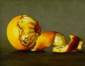 Laura Critchlow, Orange Still Life (detail)