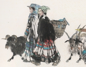 Yi People on Their Way to the Market