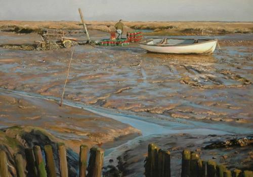 Barker-Peter-Sunlit-Boat-and-Mud.jpg