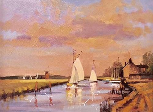 Beckett-Fred-Evening-sails,-River-Bure.jpg