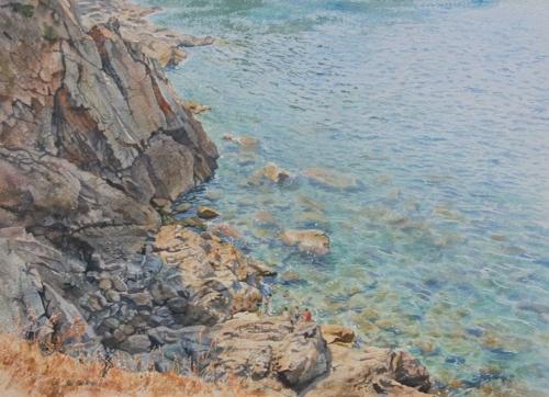 Faulkner-Neil-Swimming-off-the-Rocks,-Majorca.jpg