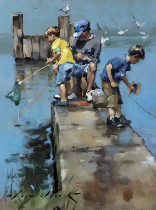 Leech-Raymond-Crabbing-from-the-Jetty,-Walberswick.jpg