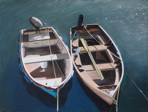 Horner-Richard-Two-more-sunlit-boats-in-Porthleven.jpg