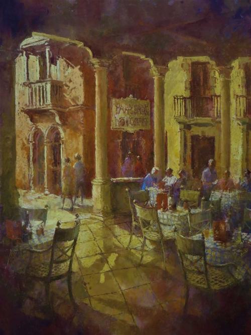 Arnold-June-Croatian-Island-cafe.-pastel.jpg