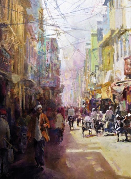Arnold-June-Street-in-Ajmer-Rajasthan-Pastel-72w-x-90h-cm-1350.jpg