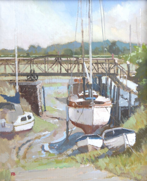 Banning-Paul-Waiting-for-the-tide-Paynes-Boatyard--Emsworth-oil.jpg