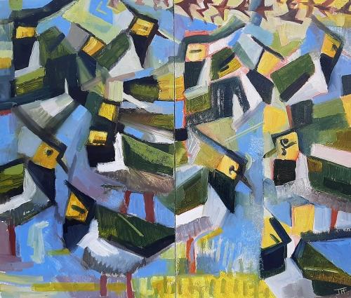 Foker-John-Lapwings-And-Starlings-In-A-Blue-Field.jpg