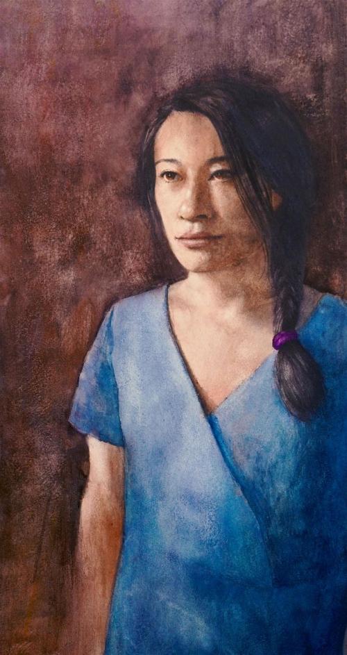 Gleeson-David-Study-Of-Hanako-In-Blue-Dress.jpg