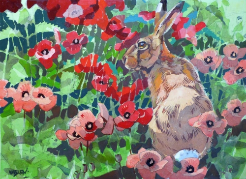 Haslen-Andrew-Hare-in-poppies-oil-on-paper.jpg