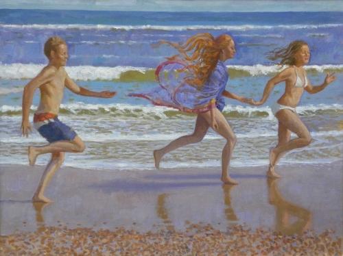 Horton-James-Children-Running-on-the-Beach-Walberswick.jpg