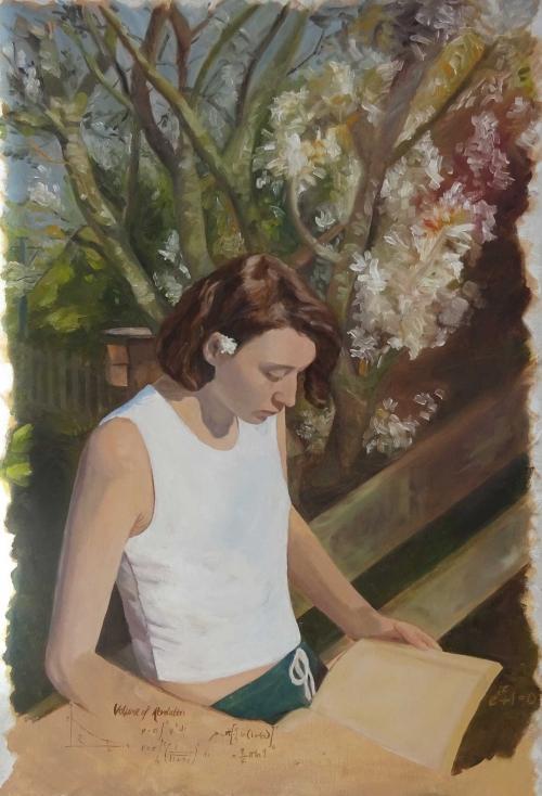 Howarth-Rachel-Cardinal-Newman-College-Preston-Girl-seated-with-book-90x70cm-Acrylics.JPG