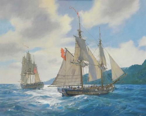 Hunt-Geoff-Followers-Of-Captain-Cook--Bligh-And-Portlock-Off-Tahiti-10th-April-1792.jpg