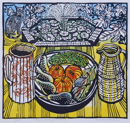 "Bawden-Richard-'Fruit Bowl and Fountain"" linocut £330.jpg"