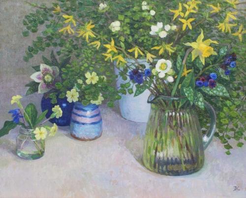 Calvert-Diana-March Flowers with Maidenhair Fern.jpg