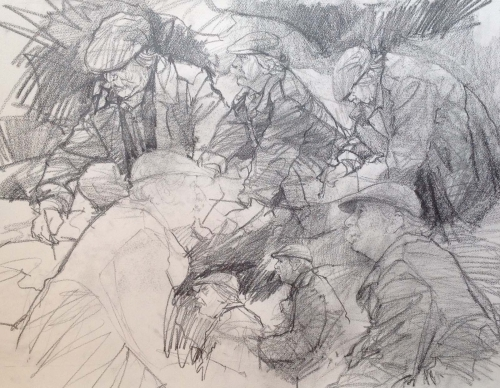 Carpanini-David-Kyffin Studies 3. Drawing in Nant Peris 1987.pencil.19.5 x 23.5 inches.jpg